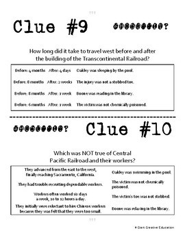 Whodunnit? - Transcontinental Railroad - Knowledge Building Activity