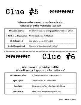 Whodunnit? - Watergate - Key Figures - Knowledge Building Activity