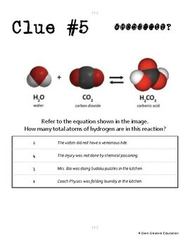 Whodunnit? - Writing Chemical Equations- Knowledge Building Activity