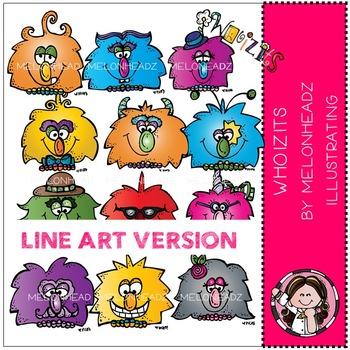 Whoizits clip art - LINE ART- by Melonheadz