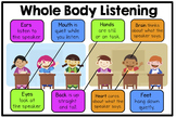 Whole Body Listening/ Learning Poster