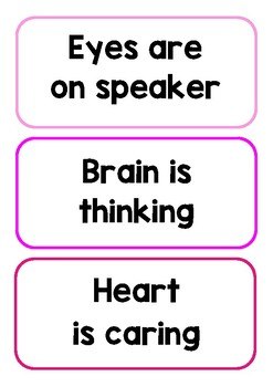 Whole Body Listening Expectations 2 {chart or bulletin board}