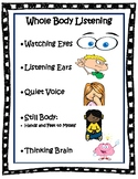 Whole Body Listening: Teaching Behavioral and Social Expectations
