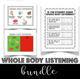 Whole Body Listening Chart and Questions Bundle