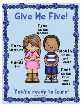 Whole Body Listening, Classroom Management Behavior Anchor Charts, Posters