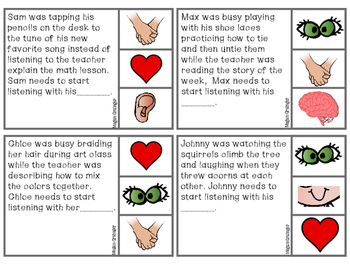 Whole Body Listening Clippie Cards