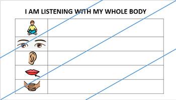 Whole Body Listening Reward Chart (Class)