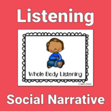 Whole Body Listening Social Story