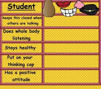 Whole Body Listening with Potatoes SMARTboard