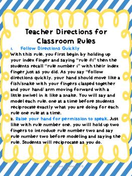 Whole Brain Classroom Rules