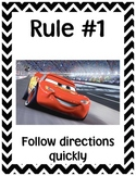 Whole Brain Classroom Rules - Disney Theme & Chevron Stripes