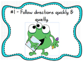 Whole Brain Classroom Rules Monsters Theme (Editable)