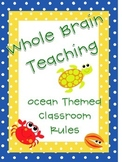 Whole Brain Classroom Rules (Ocean Theme)
