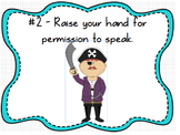 Whole Brain Classroom Rules Pirates Theme (Editable)