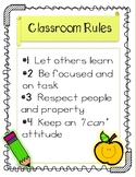 Whole Brain Classroom Rules Poster FREEBIE!