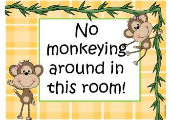 Whole Brain Classroom Techniques: Monkeys in the Jungle Theme