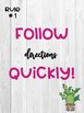 Whole Brain Teaching Rules Posters 1-5 Cactus and Shiplap Rustic/Farmhouse