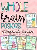 Whole Brain Posters: Tropical Themed