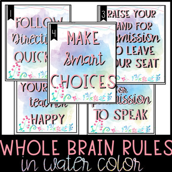 Whole Brain Posters -- WATERCOLOR