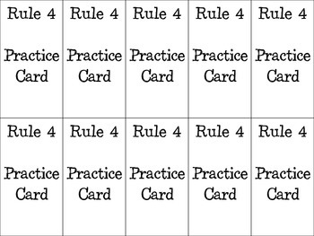 Whole Brain Practice Rule Cards