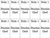 Whole Brain Practice Rule Cards