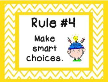 Whole Brain Rules - Framed Chevron Theme