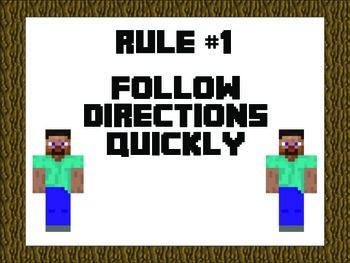 Whole Brain Rules - Minecraft Theme