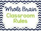 Whole Brain Rules Navy and Lime Classroom Posters