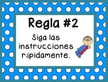 Whole Brain Rules - Polka Dots Theme {SPANISH}