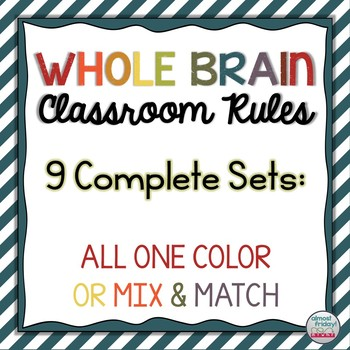9 Whole Brain Rules Mix and Match Poster Sets