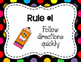 Whole Brain Rules Posters - Black Rainbow