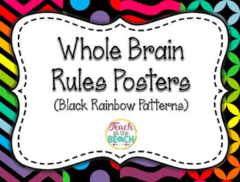 Whole Brain Rules Posters - Black Rainbow