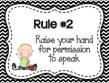 Whole Brain Rules Posters - Black and White Patterns