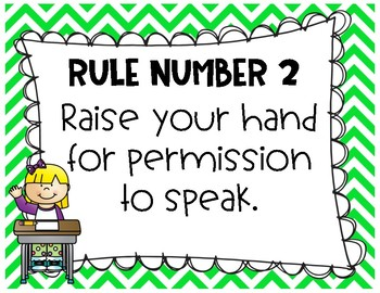 Whole Brain Rules Posters - Chevron and Doodles
