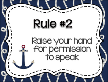 Whole Brain Rules Posters - Nautical Glam Series