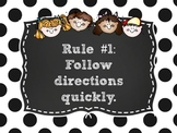 Whole Brain Rules Posters Polka Dot Theme