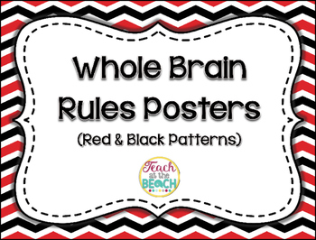 Whole Brain Rules Posters - Red & Black Patterns