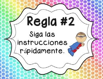Whole Brain Rules - Rainbow Background {SPANISH}