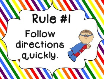 Whole Brain Rules - Rainbow Stripes