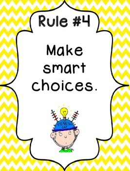 Whole Brain Rules - Vertical Chevron