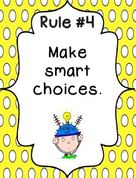 Whole Brain Rules - Vertical Polka Dots