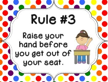 Whole Brain Rules - Vertical Rainbow Dots