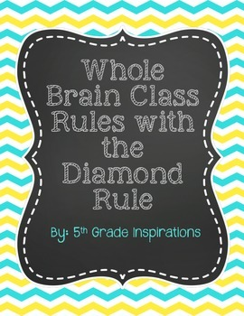 Whole Brain Rules With Diamond Rule {Teal, Grey, and Yellow}