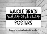 Whole Brain Rules and Cues Posters in floral/ black and white