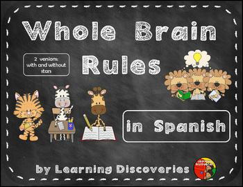 Whole Brain Rules in Spanish on Chalkboards with Animals -