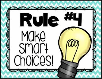 Whole Brain Teaching Poster Set {Chevron Classroom Set}