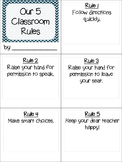 Whole Brain Teaching 5 Classroom Rules Book