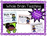 Whole Brain Teaching 5 Rules +Diamond Rule (Superhero Theme)