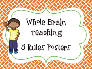 Whole Brain Teaching 5 Rules Posters