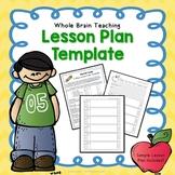 Whole Brain Teaching ~ 5 Step Lesson Plan Template (FREE)